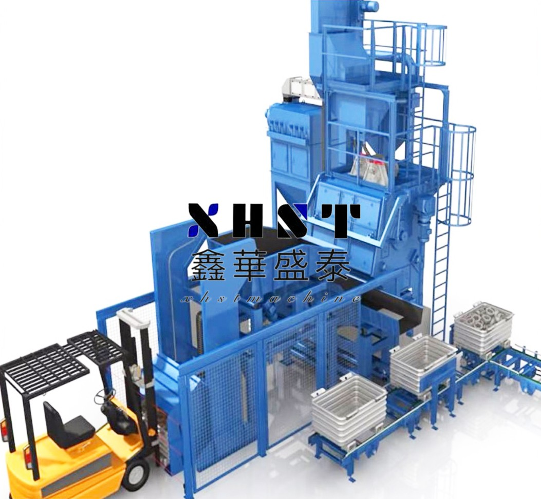 Q3220 crawler type shot blasting machine
